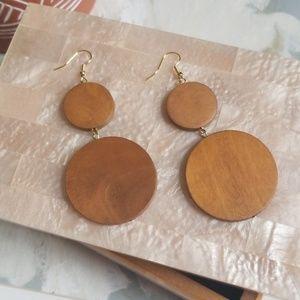 Jewelry - Wooden Boho Earrings Festival Natural Bohemian